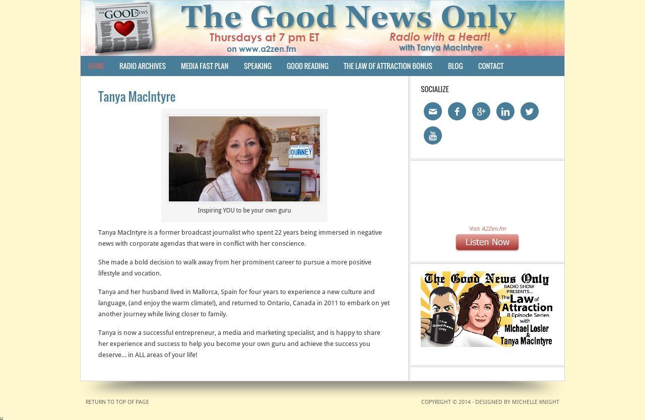 Tanya MacIntyre WordPress Website