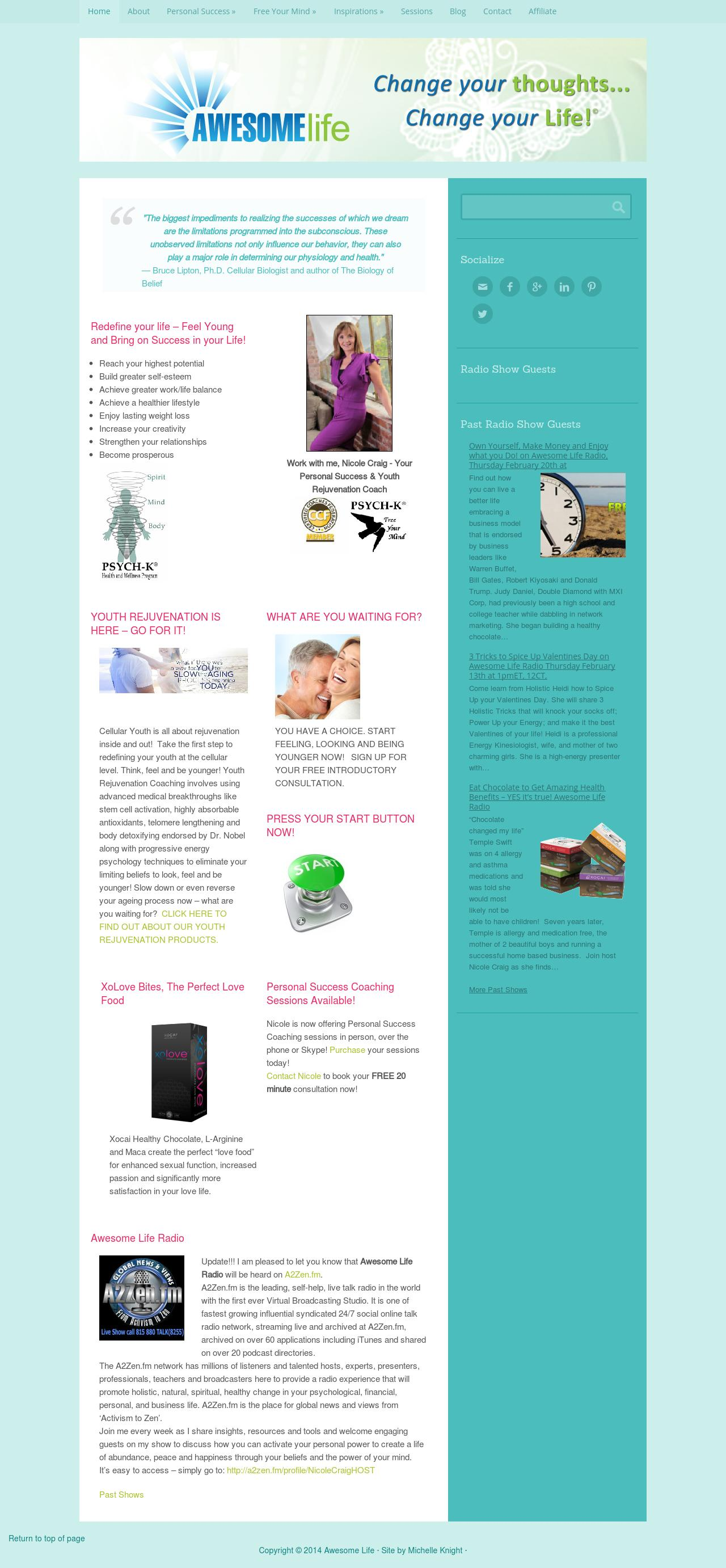 Awesome Life WordPress Website
