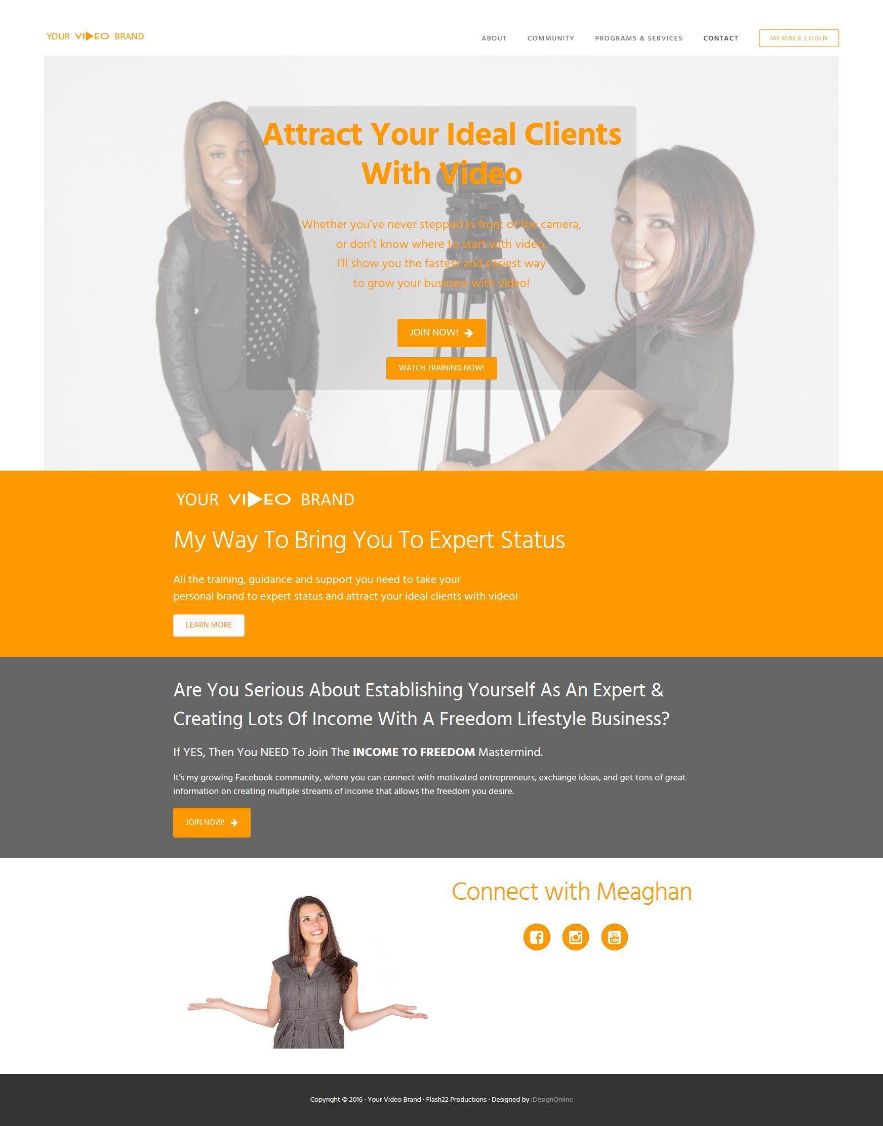 Your Video Brand WordPress Website
