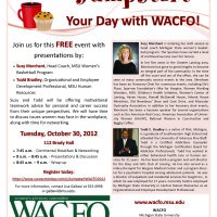 WACFO Jumpstart Your Day Event Flyer
