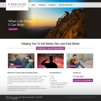 A New Hope Counseling Center Website Design