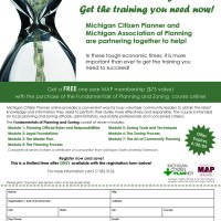 Michigan Citizen Planner MAP Partner Registration Ad