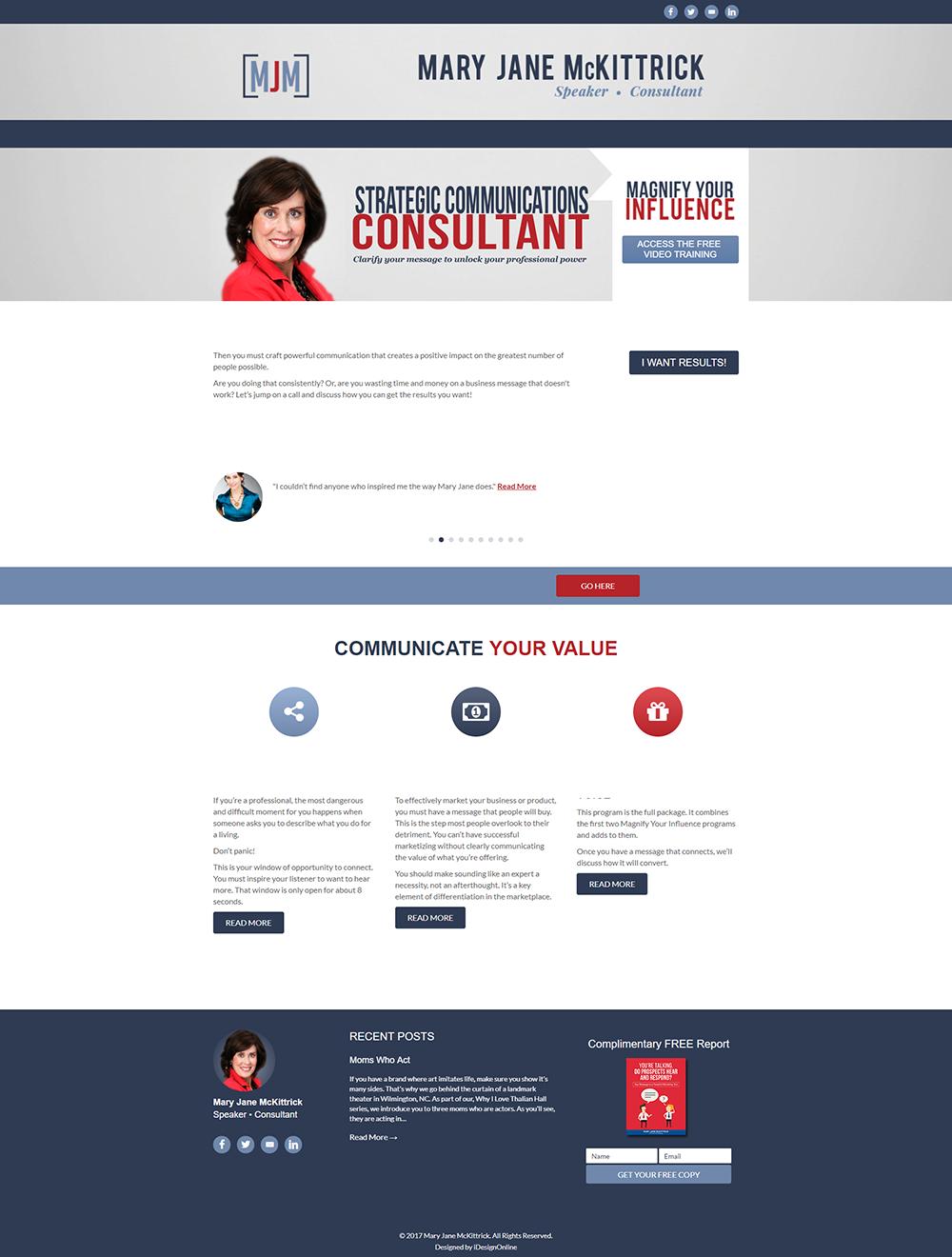 Mary Jane McKittrick WordPress Website