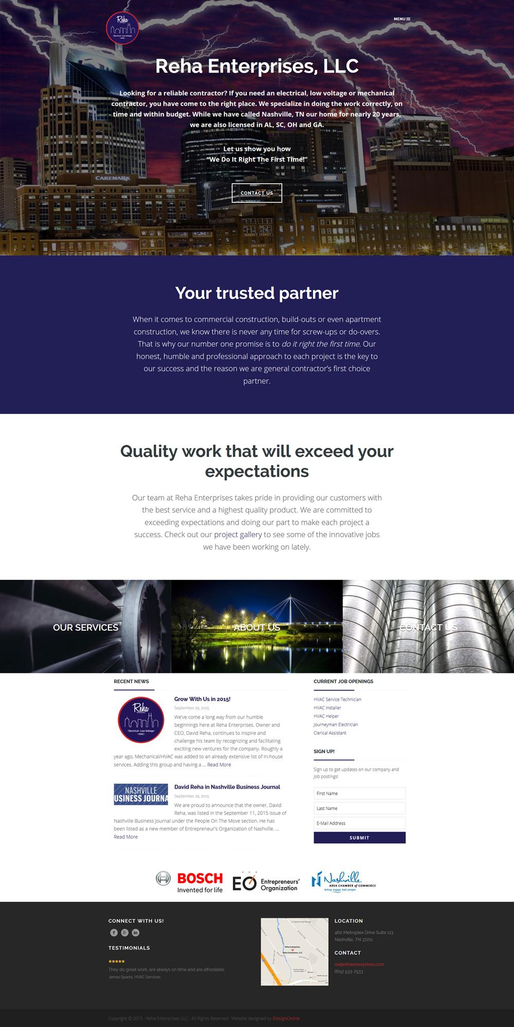 Reha Enterprises, LLC WordPress Website