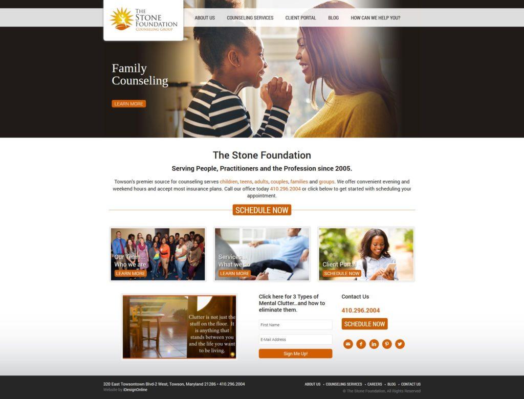The Stone Foundation Website Design