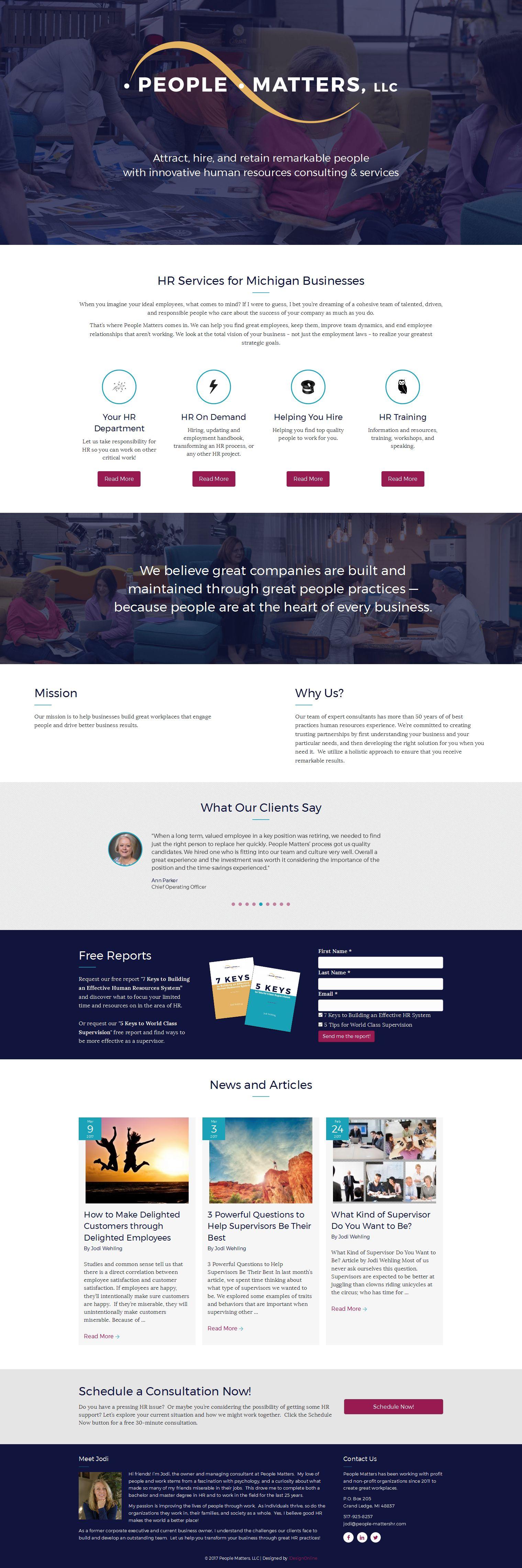 People Matters Website
